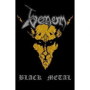 Venom Textile Flag: Black Metal