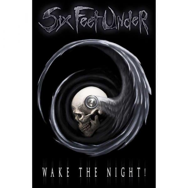 Six Feet Under Textile Flag: Wake The Night