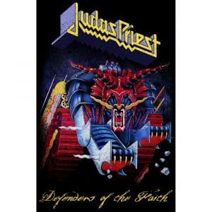 Judas Priest Textile Flag: Defenders Of The Faith