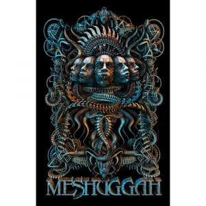 Meshuggah Textile Flag: 5 Faces