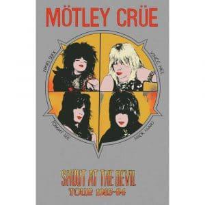 Motley Crue Textile Flag: Shout At The Devil
