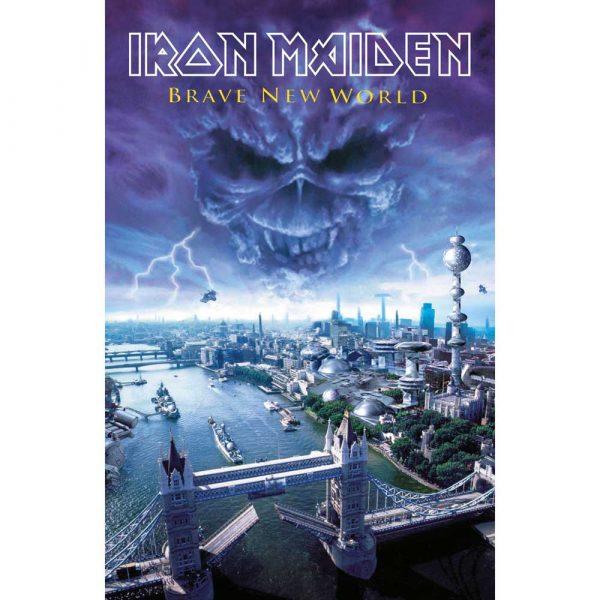 Iron Maiden Textile Flag: Brave New World