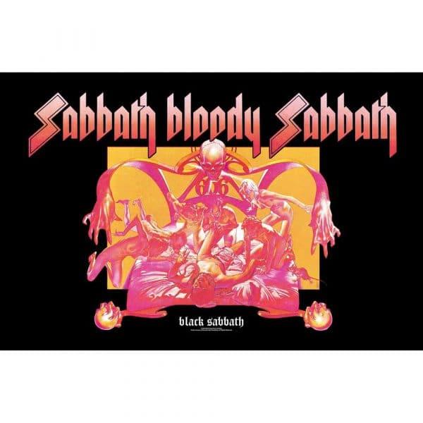 Black Sabbath Textile Flag: Sabbath Bloody Sabbath