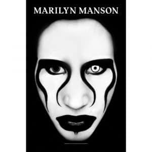 Marilyn Manson Textile Flag: Defiant Face