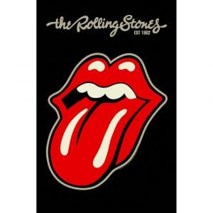 The Rolling Stones Textile Flag: Tongue