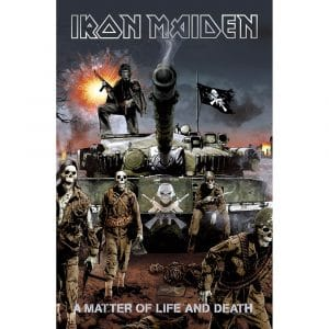 Iron Maiden Textile Flag: A Matter Of Life And Death