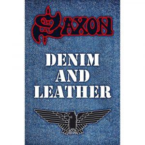 Saxon Textile Flag: Denim & Leather