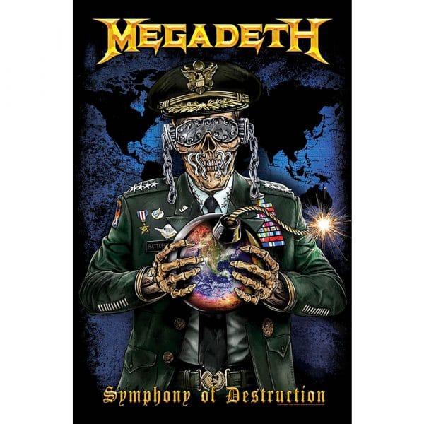 Megadeth Textile Flag: Symphony of Destruction