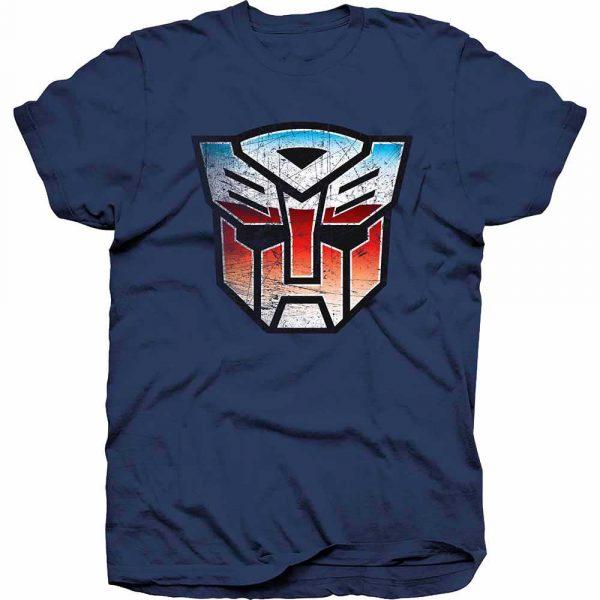 Hasbro Mens T-Shirt: Transformers Autobot Shield Distress