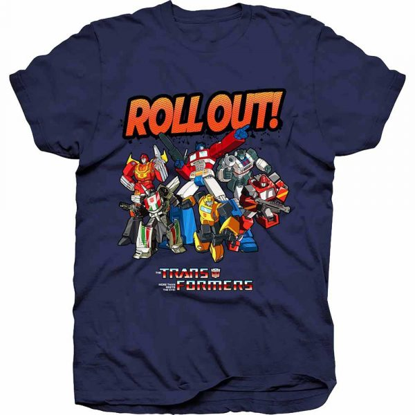 Hasbro Mens T-Shirt: Transformers Roll Out