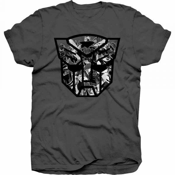 Hasbro Mens T-Shirt: Transformers Autobot Shield Black/White