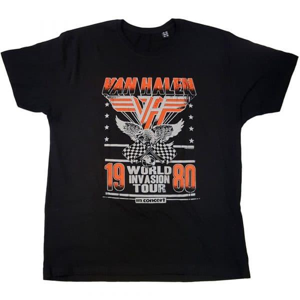 Van Halen Mens T-Shirt: Invasion Tour '80 (XX-Large)