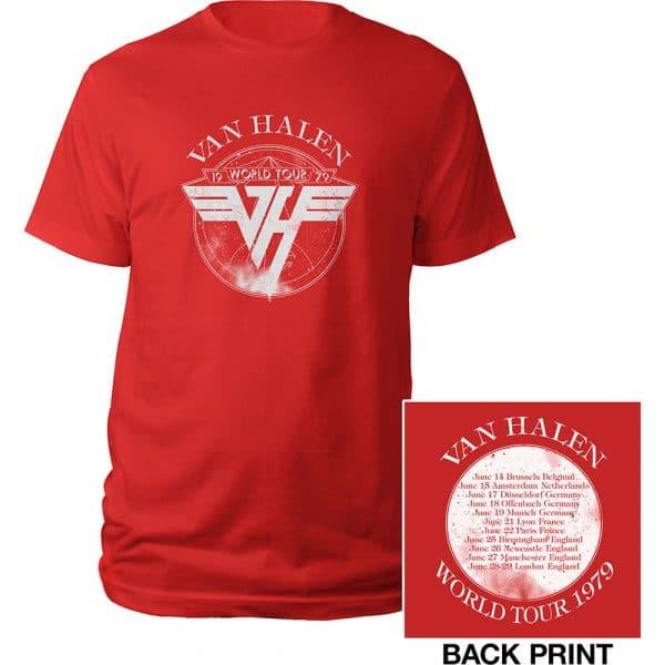 Van Halen Mens T-Shirt: 1979 Tour (Back Print) (XX-Large)