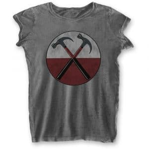 Pink Floyd Ladies T-Shirt: The Wall Hammers (Burn Out) (XX-Large)