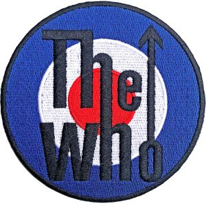 The Who Standard Patch: Target Logo Bordered