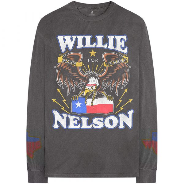 Willie Nelson Mens Long Sleeved T-Shirt: Texan Pride (Arm Print) (XX-Large)