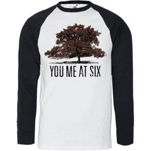 You Me At Six Mens Raglan T-Shirt: Tree (XX-Large)