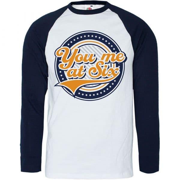 You Me At Six Mens Raglan T-Shirt: Crest (XX-Large)