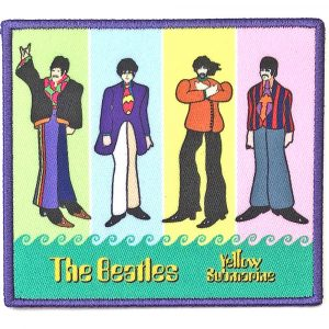 The Beatles Standard Patch: Yellow Submarine Band in Stripes