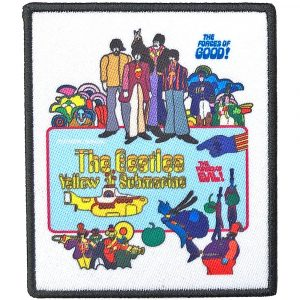 The Beatles Standard Patch: Yellow Submarine Movie Poster