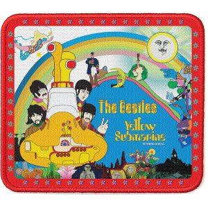The Beatles Standard Patch: Yellow Submarine Stars Border
