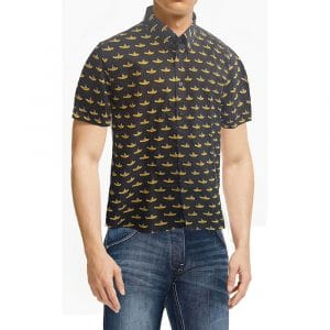 The Beatles Mens Casual Shirt: Yellow Submarine (All Over Print) (XX-Large)