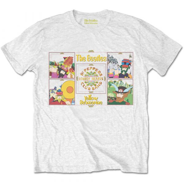The Beatles Mens T-Shirt: Yellow Submarine Sgt Pepper Band (XX-Large)