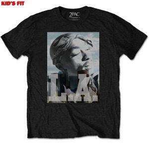Tupac Kids T-Shirt: LA Skyline (9 - 10 Years)
