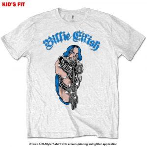 Billie Eilish Kids T-Shirt: Bling (Glitter Application) (13 - 14 Years)