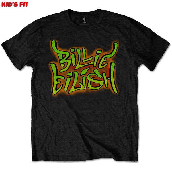 Billie Eilish Kids T-Shirt: Graffiti (12 - 13 Years)