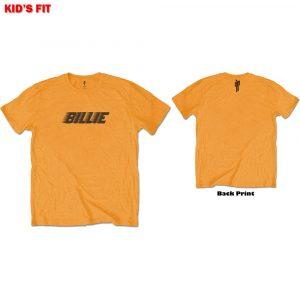 Billie Eilish Kids T-Shirt: Racer Logo & Blohsh (Back Print) (13 - 14 Years)