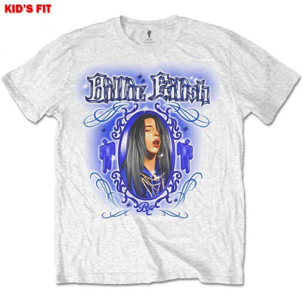 Billie Eilish Kids T-Shirt: Airbrush Photo (13 - 14 Years)