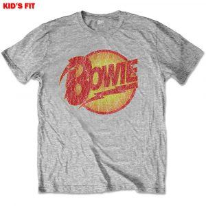 David Bowie Kids T-Shirt: Vintage Diamond Dogs Logo (13 - 14 Years)