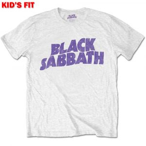 Black Sabbath Kids T-Shirt: Wavy Logo (Retail Pack) (11 - 12 Years)
