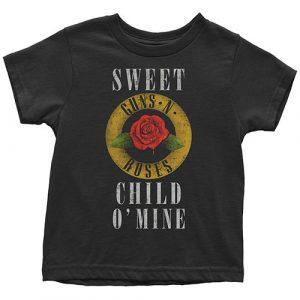 Guns N' Roses Kids T-Shirt (Toddler): Child O' Mine Rose (5 Years)