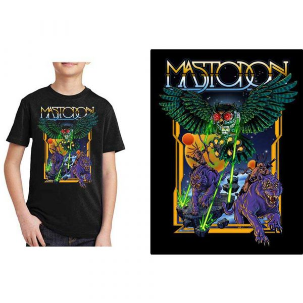 Mastodon Kids T-Shirt: Space Owl (12 - 13 Years)