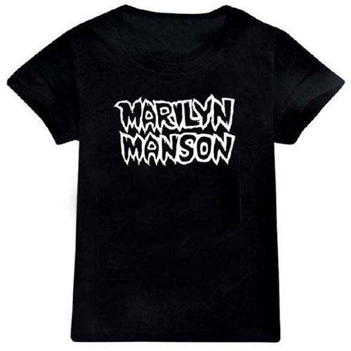 Marilyn Manson Kids T-Shirt: Classic Logo (12 - 13 Years)