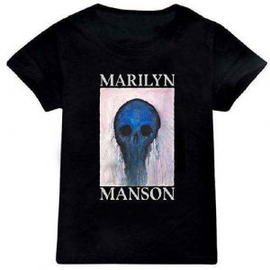 Marilyn Manson Kids T-Shirt: Halloween Painted Hollywood (12 - 13 Years)