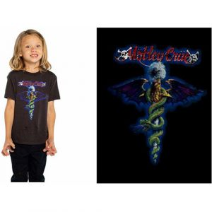 Motley Crue Kids T-Shirt: Blue Dragon (12 - 13 Years)