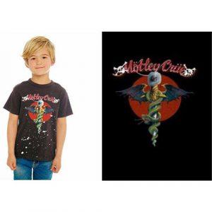 Motley Crue Kids T-Shirt: Feelgood Red Circle (12 - 13 Years)