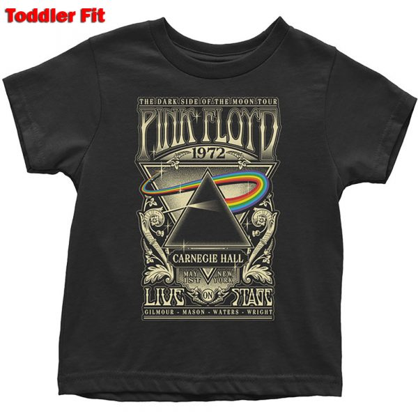 Pink Floyd Kids T-Shirt (Toddler): Carnegie Hall Poster (5 Years)