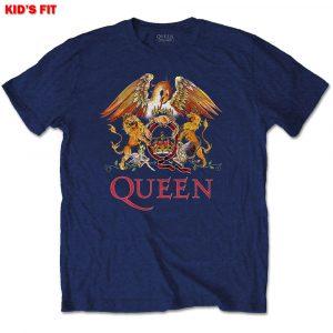 Queen Kids T-Shirt: Classic Crest (13 - 14 Years)