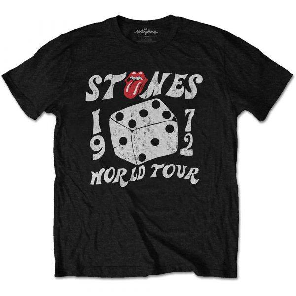The Rolling Stones Mens Eco-T-Shirt: Dice Tour '72 (XX-Large)