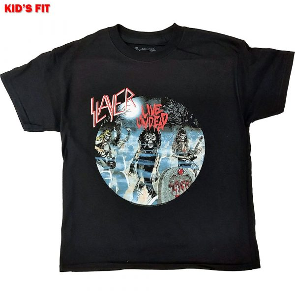 Slayer Kids T-Shirt: Live Undead (12 - 13 Years)