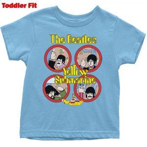 The Beatles Kids T-Shirt (Toddler): Yellow Submarine Portholes (5 Years)