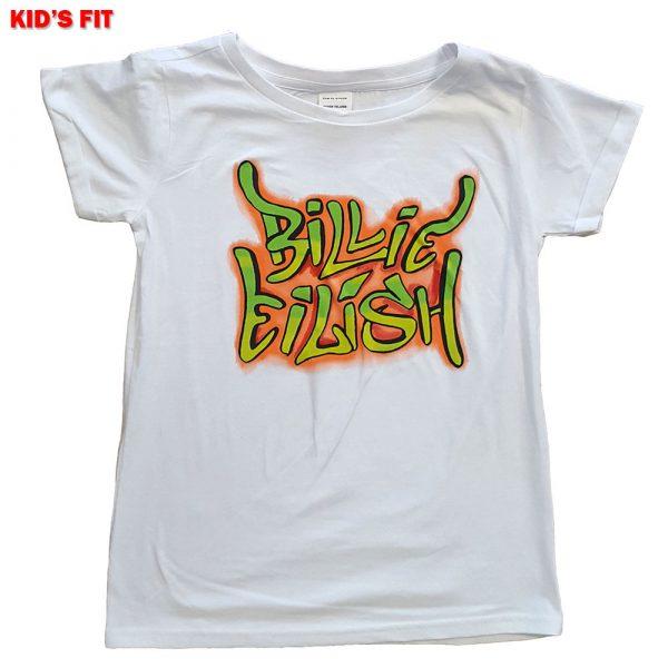 Billie Eilish Kids T-Shirt (Girls): Graffiti (11 - 12 Years)