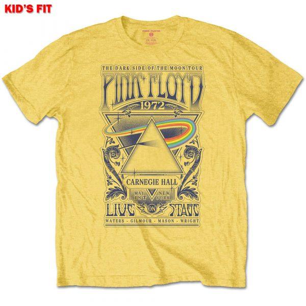 Pink Floyd Kids T-Shirt: Carnegie Hall Poster (13 - 14 Years)