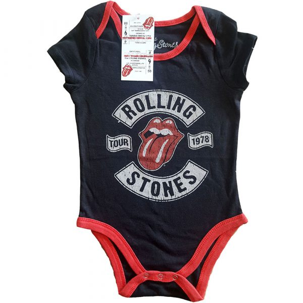 The Rolling Stones Kids Baby Grow: US Tour 1978 (24 Months)