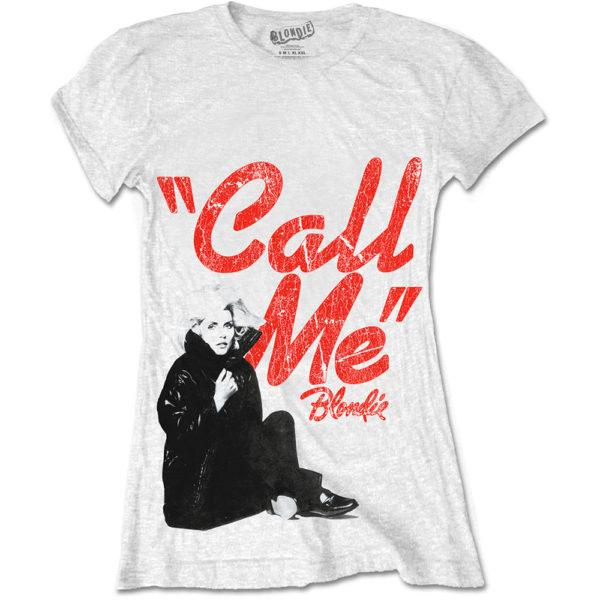 Blondie Ladies White T-Shirt: Call Me (XX-Large)