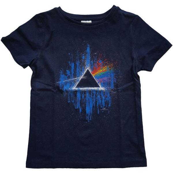 Pink Floyd Kids T-Shirt: Dark Side of The Moon Blue Splatter (11-12 Years)